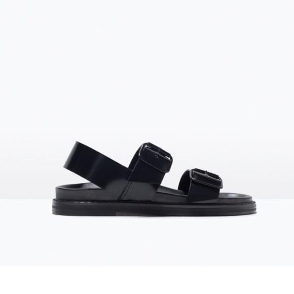 1035f133f93e3f ... Buckle Black Patent Leather Sandal. M 5aeb119372ea88c999fa6d8b